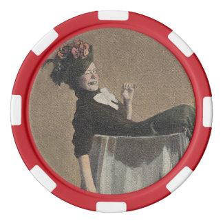 Fichas de póker populares de la copa de vino de la fichas de póquer