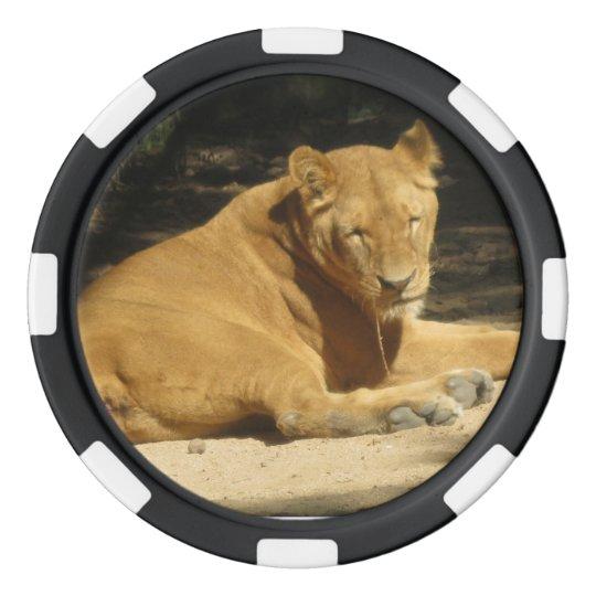 Fichas De Póquer Ficha de póker del león