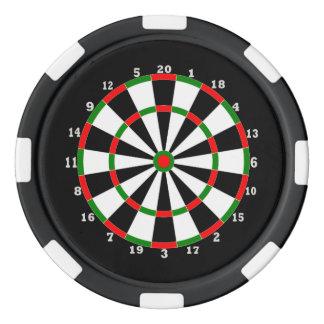 Fichas De Póquer Ficha de póker - diseño del Dartboard