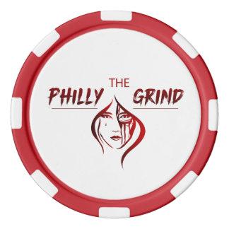 Fichas De Póquer La ficha de póker de la rutina de Philly