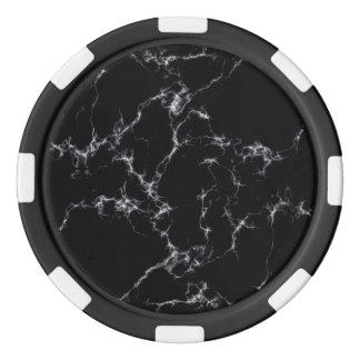 Fichas De Póquer Mármol elegante style4 - blanco y negro