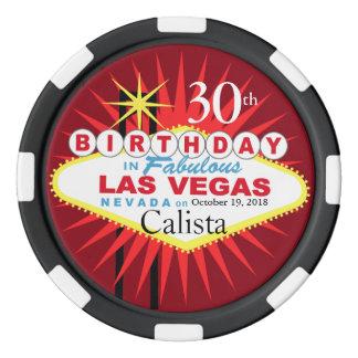 Fichas De Póquer Microprocesador del casino del cumpleaños de Las