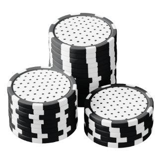 Fichas De Póquer Modelo de lunar blanco y negro