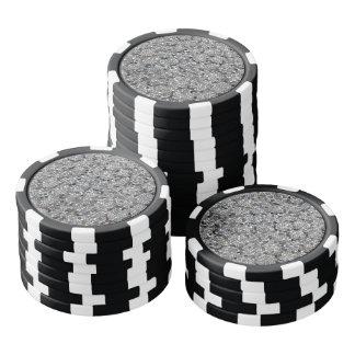Fichas De Póquer Modelo de mosaico gris