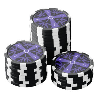 Fichas De Póquer Monograma azul cambiante