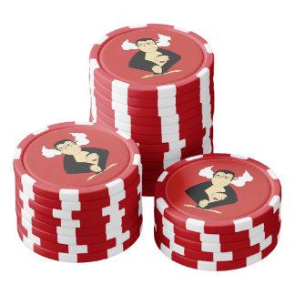 Fichas De Póquer No oiga ninguna ficha de póker malvada