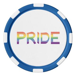 Fichas De Póquer Orgullo de la bandera del arco iris