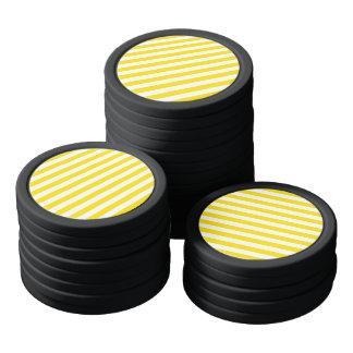 Fichas De Póquer Rayas amarillas horizontales