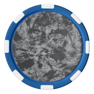 Fichas De Póquer Tinta negra en fondo gris