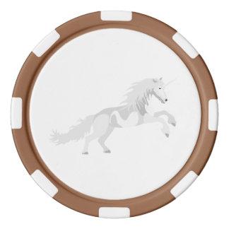 Fichas De Póquer Unicornio del blanco del ejemplo