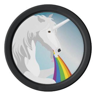 Fichas De Póquer Unicornios puking del ejemplo