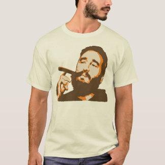 Fidel Castro con la camiseta del retrato del