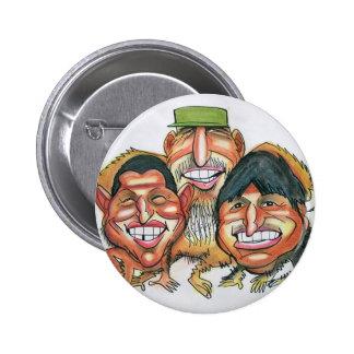 Fidel Castro, Hugo Chavez, morales del evo Chapa Redonda De 5 Cm