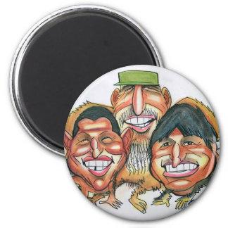 Fidel Castro, Hugo Chavez, morales del evo Imán Redondo 5 Cm