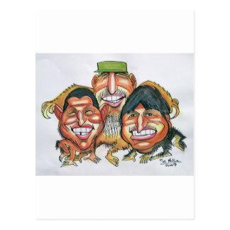 Fidel Castro, Hugo Chavez, morales del evo Postal