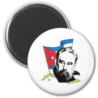 Fidel Castro Imán Redondo 5 Cm
