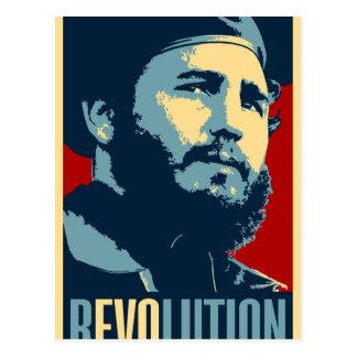 Fidel Castro - presidente cubano de la revolución Postal