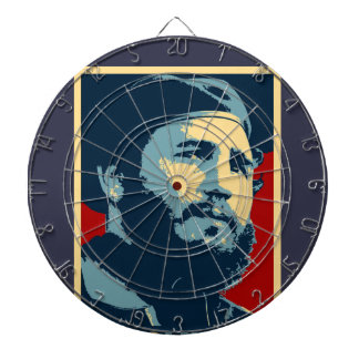 Fidel Castro - presidente cubano de la revolución Tablero Dardos