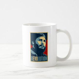 Fidel Castro - presidente cubano de la revolución Taza De Café