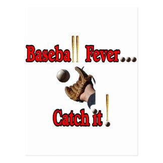 Fiebre del béisbol… ¡Cójala! Camiseta Postal