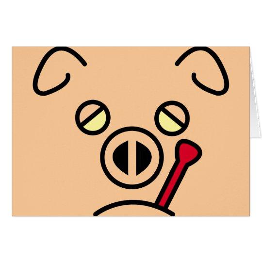 fiebre del cerdo tarjeta de felicitación