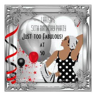Fiesta 50 fabulosos negros de plata rojos del art