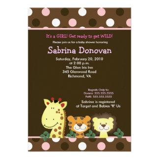 FIESTA 5x7 Brown/fiesta de bienvenida al bebé rosa Anuncios Personalizados