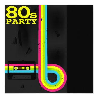 fiesta 80s invitación 13,3 cm x 13,3cm