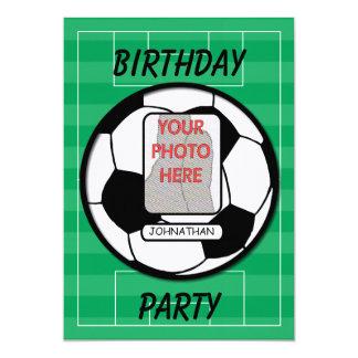 Fiesta adaptable del balón de fútbol de la foto invitación 12,7 x 17,8 cm