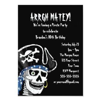 Fiesta adaptable del pirata invitación 12,7 x 17,8 cm