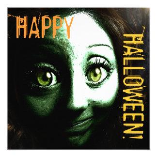 Fiesta adolescente de Halloween del chica del zomb Invitación Personalizada