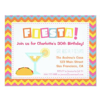 Fiesta adulto de la fiesta mexicana colorida de invitación