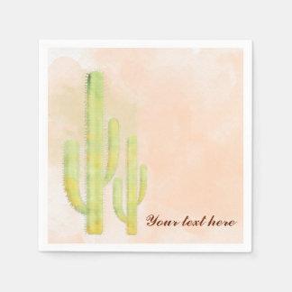 Fiesta al sudoeste simple del cactus de la servilletas desechables