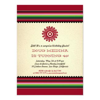 Fiesta antiguo de Sun Serape del mexicano Invitación 13,9 X 19,0 Cm