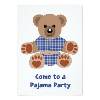 Fiesta azul borroso del PJ de los pijamas de la Invitación 12,7 X 17,8 Cm