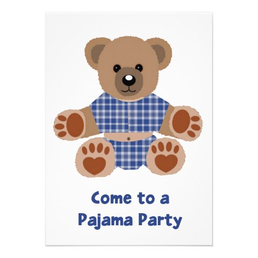 Fiesta azul borroso del PJ de los pijamas de la te Comunicados Personales