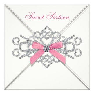 Fiesta blanco del dulce 16 del rosa de los diamant anuncio