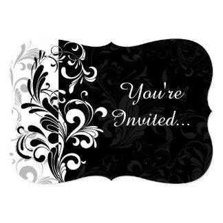 Fiesta blanco negro del remolino de la fuente anuncios personalizados