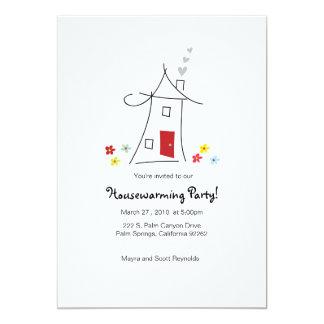 fiesta caprichoso del estreno de una casa 5x7 invitación personalizada