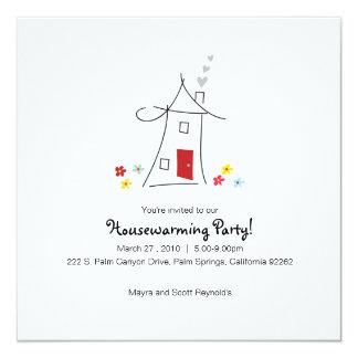 Fiesta caprichoso del estreno de una casa invitación 13,3 cm x 13,3cm