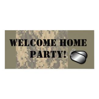 Fiesta casero agradable de los militares invitación 10,1 x 23,5 cm