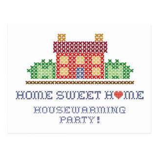 Fiesta casero dulce casero del estreno de una casa postal