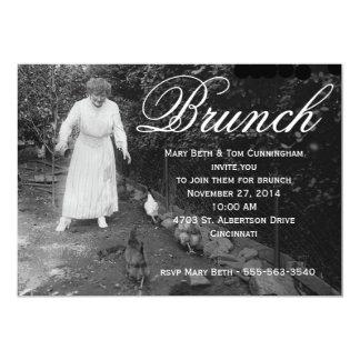 Fiesta chistoso del brunch invitación 12,7 x 17,8 cm