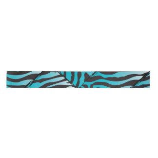 Fiesta como una cinta azul del estampado de zebra lazo de raso