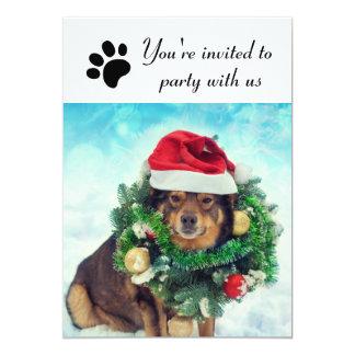 Fiesta con nosotros perro - invitación de la