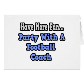 Fiesta con un entrenador de fútbol felicitación