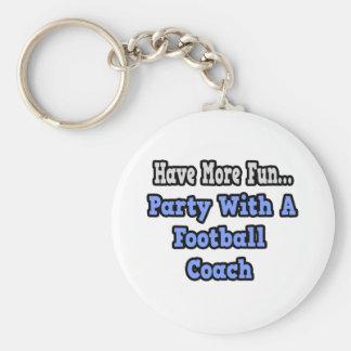 Fiesta con un entrenador de fútbol llavero