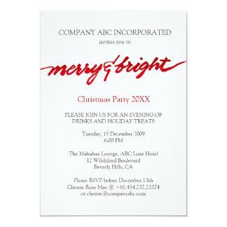 Fiesta corporativo de los Navidad Felices y Invitación 12,7 X 17,8 Cm