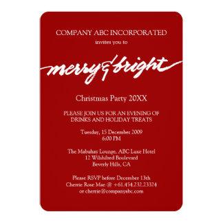 Fiesta corporativo de los Navidad rojos Felices y Invitación 12,7 X 17,8 Cm