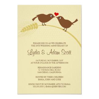 Fiesta de aniversario de la bodas de plata de los invitación 12,7 x 17,8 cm